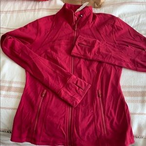 Lululemon womens speedy jacket in red